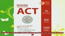 read here  ACT Reading Practice Book Advanced Practice Series Volume 5