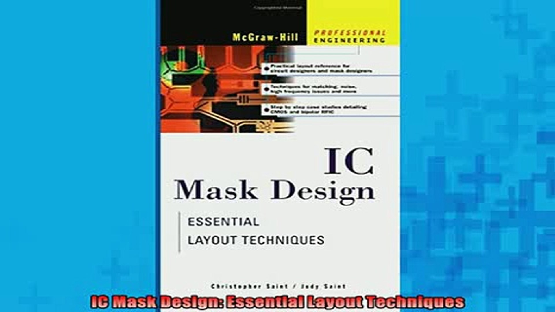 IC Mask Design: Essential Layout Techniques (Professional Engineering)