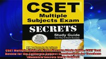 free pdf   CSET Multiple Subjects Exam Secrets Study Guide CSET Test Review for the California