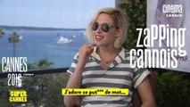 La Minute du Zapping Cannois avec Kristen Stewart, Julie Gayet, Robert de Niro - 17/03 - Cannes 2016 - CANAL+