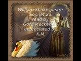 William Shakespeare Sonnet 23
