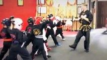 Kids Karate Sparring Self Defense Kicking Drills Encinitas Carlsbad -West Coast Martial Arts Academy