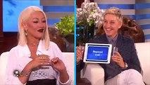 Christina Aguilera imitó a Beyoncé, Rihanna y Madonna