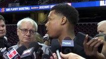 NBA Highlights 2016 | Kyle Lowry Practice Interview | Raptors vs Cavaliers - Game 1 | May 17, 2016