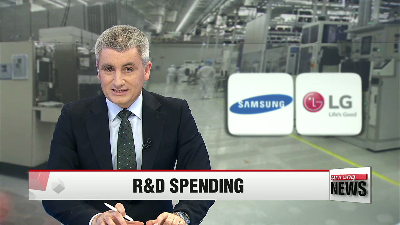 Samsung Electronics, LG Electronics expand R&D investment in Q1 2016