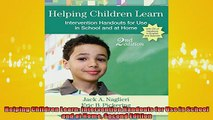 FREE DOWNLOAD  Helping Children Learn Intervention Handouts for Use in School and at Home Second Edition  BOOK ONLINE