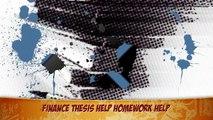 Finance Thesis Help Homework Help