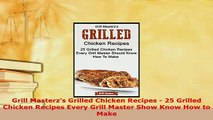 PDF  Grill Masterzs Grilled Chicken Recipes  25 Grilled Chicken Recipes Every Grill Master Read Online