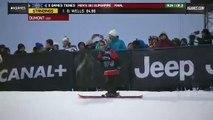 Simon Dumont run 1 Men's Ski SuperPipe final  X Games Tignes 2013