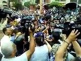 Así llegó el rector Luis Emilio Rondón a la marcha opositora