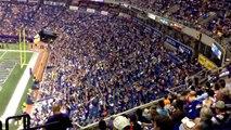 Minnesota Vikings Confetti Wave at the Vikings vs. Tennessee Titans game August 29, 2013 Metrodome