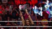 Nikki Bella vs Naomi Divas Championship ( Paige Returns) 5-18-16