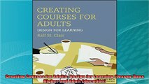 best book  Creating Courses for Adults Design for Learning JosseyBass Higher and Adult Education