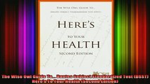 free pdf   The Wise Owl Guide To Dantes Subject Standardized Test DSST Heres To Your Health