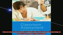 FREE PDF  Classroom Assessment Supporting Teaching and Learning in Real Classrooms 2nd Edition READ ONLINE