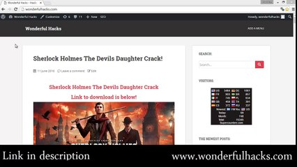 Sherlock Holmes The Devils Daughter Crack! - video dailymotion