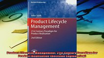 Popular book  Product Lifecycle Management 21st Century Paradigm for Product Realisation Decision