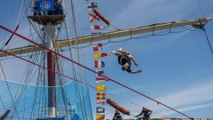 Slacklining Over an Old Sailing Ship | POV
