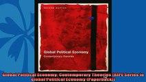 For you  Global Political Economy Contemporary Theories RIPE Series in Global Political Economy