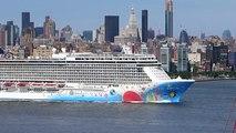 New York, New York - Norwegian Breakaway departs New York City HD (2016)