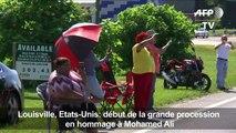 Début de la grande procession en hommage à Mohamed Ali