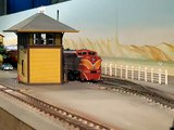 """SP GP9 """"Black Widow"""" Freight in 1/29 Scale at 2009 Perth Model Train Show (AMRA)"""