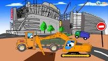 ✔ Carros Para Niños. Excavadora, Grúa, Camión de basura. Caricaturas de carros. Tiki Taki Carros ✔