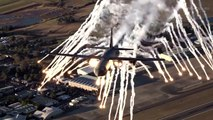 RAAF C-130J Flare drop over RAAF Base Richmond