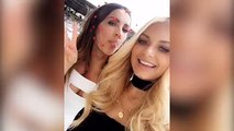 DJ Havana Brown and Rachael Finch muck around at the races