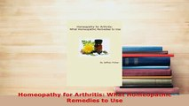 PDF Homeopathy for Rheumatoid Arthritis What Homeopathic