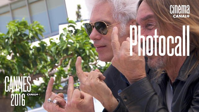 Iggy Pop ,Jim Jarmusch (Gimme Danger) - Photocall Officiel - Cannes 2016 - CANAL+