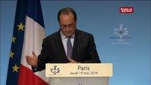 """Hollande : """" Le projet de loi travail est un progrès pour la situation des personnes handicapées"""""""