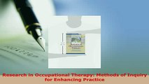 Read  Research in Occupational Therapy Methods of Inquiry for Enhancing Practice Ebook Free