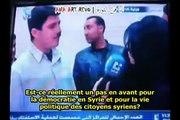 26 02 2012 SYRIE : Quand le référendum syrien tourne au ridicule - sous-titres français