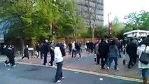 Liverpool fans trying to fight Chelsea Fans on Wembley Way and The Chelsea Relig_144p