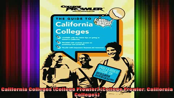 best book  California Colleges College Prowler College Prowler California Colleges