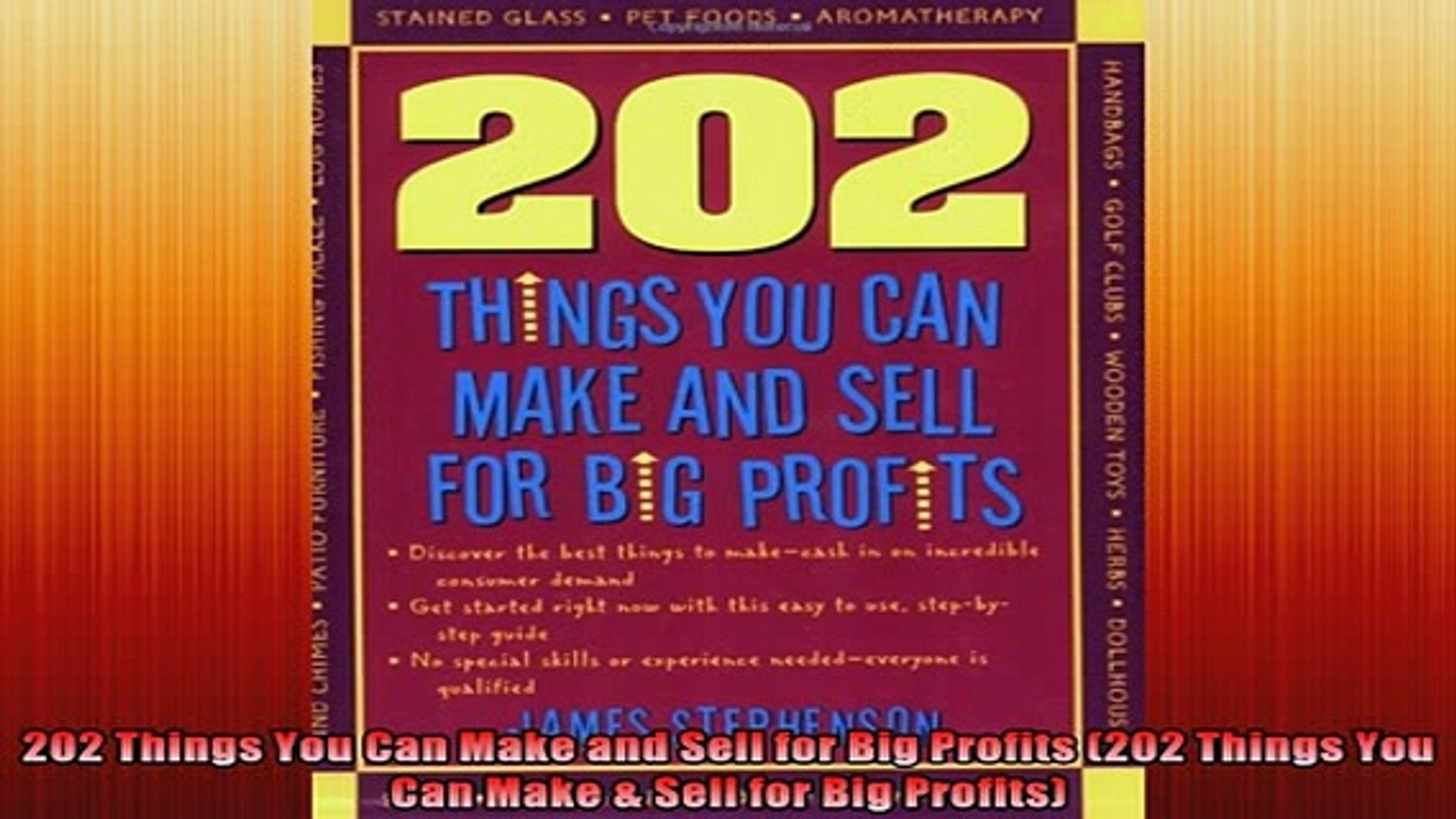 READ FREE Ebooks  202 Things You Can Make and Sell for Big Profits 202 Things You Can Make  Sell for