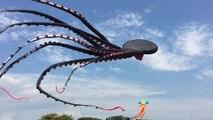 Immense pieuvre flottant dans le ciel de Singapour - Cerf-volant géant