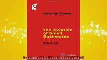 READ book  Taxation of Small Businesses 201415 Online Free