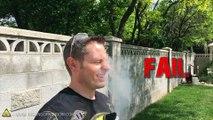 Ce gars s'envoie du Nitrogen Liquide dans la face ! Test chimiaque de dingue...