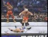 Edge and Hollywood Hulk Hogan vs Billy and Chuck WWE Tag Team Championship WWE Smackdown 11/7/2002