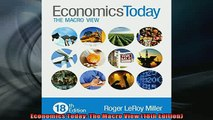 EBOOK ONLINE  Economics Today The Macro View 18th Edition  DOWNLOAD ONLINE