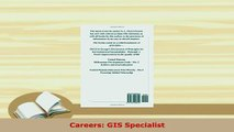 Read  Careers GIS Specialist Ebook Free