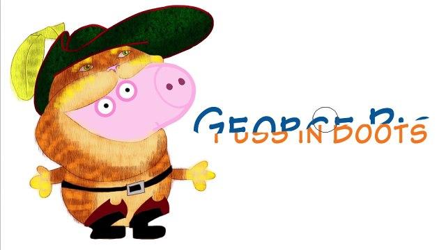 CAT ATE GEORGE? Peppa Pig en español Shrek Family FUN Transforms Animation for Kids & Chi