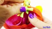 PLAY DOH SURPRISE EGGS- Modeling Clay Rainbow Surprise Eggs Peppa Pig Espanol Toys Paw Pat