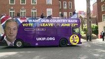 GB: Nigel Farage lance son bus à l'assaut de l'Union européenne