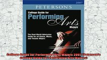new book  College Guide for Performing Arts Majors 2007 Petersons College Guide for Performing