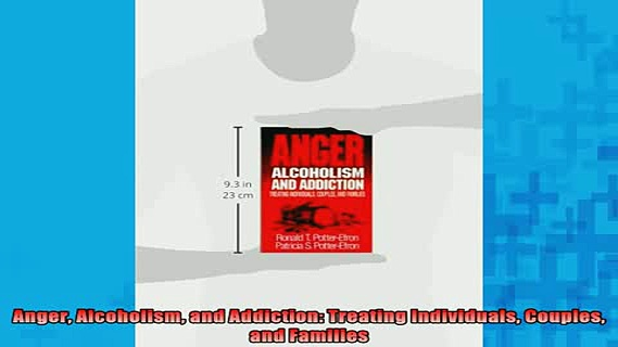 READ book  Anger Alcoholism and Addiction Treating Individuals Couples and Families Online Free