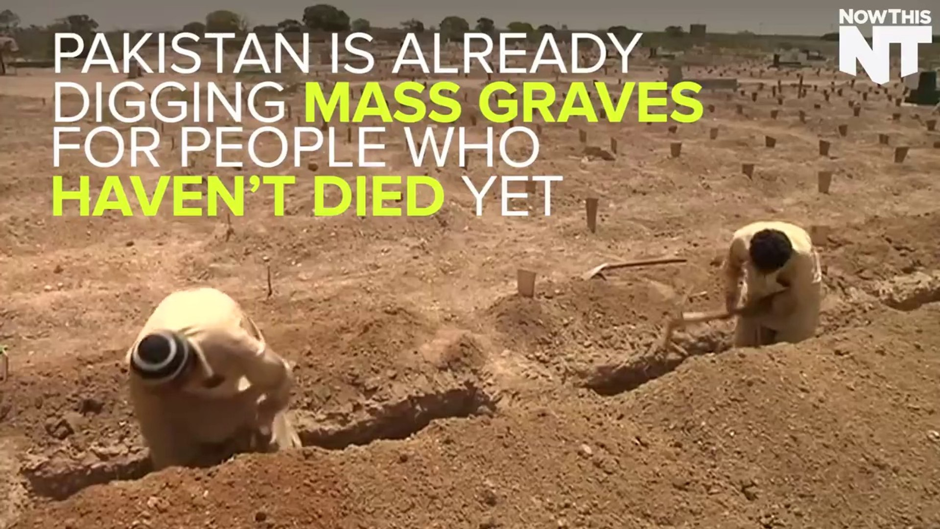 Pakistan is building mass graves for people who haven't even died yet