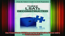 FREE PDF  The PowerScore LSAT Deconstructed Series Three LSATs Deconstructed  BOOK ONLINE